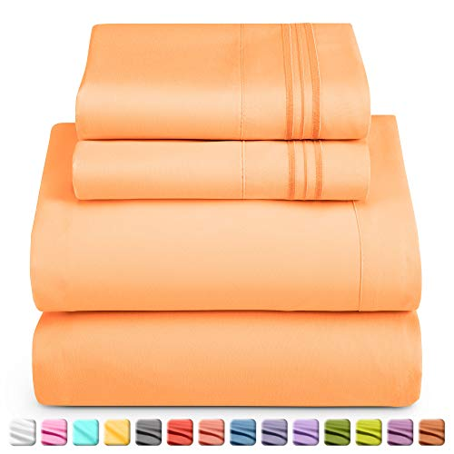 Nestl Deep Pocket Twin Sheets: Twin Size Bed Sheets with Fitted and Flat Sheet, Pillow Cases – Extra Soft Microfiber…