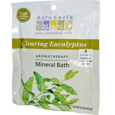 Aura Cacia Eucalyptus Harvest Mineral Bath Salts 24x 2.5 Oz