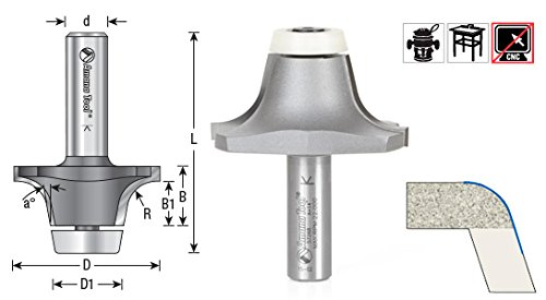Amana Tool - 57269 Carbide Tipped Undermount Bowl Solid Surface 2-7/32 Dia x 63/64 x 18 De Amana Tool Corp.