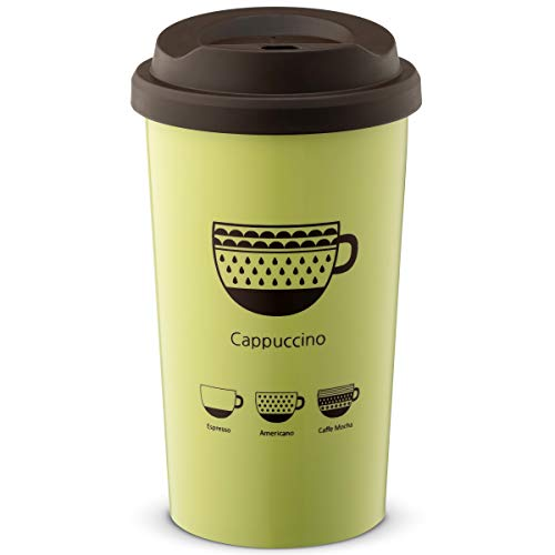4c2569404d91 JVR Stainless Steel Reusable Coffee Cup | Double Wall Vacuum Insulated  Travel Coffee Mug with Lid