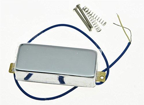 KAISH Chrome LP Closed Mini Humbucker Bridge Pickup Sealed Mini Pickups for Les Paul
