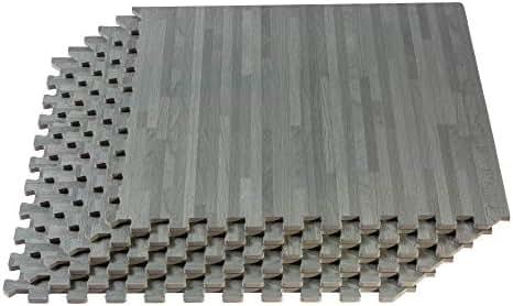 Forest Floor Thick Printed Foam Tiles, Premium Wood Grain Interlocking Foam Floor Mats, Anti-Fatigue Flooring, 3/8