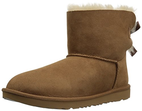 UGG Kids K Mini Bailey Bow II Pull-On Boot,Chestnut,5 M US Big Kid by UGG