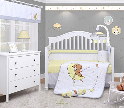 (OptimaBaby My Dream Little Bunny 6 Piece Baby Nursery Crib Bedding)