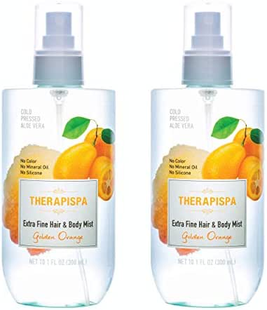 [THERAPISPA] Cold-Pressed Aloe Extra Fine Hair & Body Mist, 10.1 oz (Golden Orange, Duo)