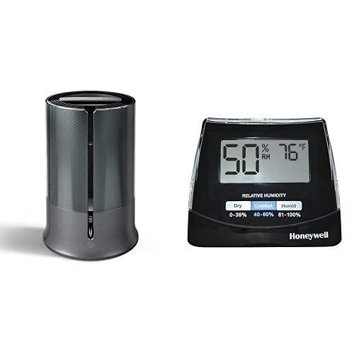 Honeywell Designer Series Cool Mist Humidifier, Black with  Humidity Monitor