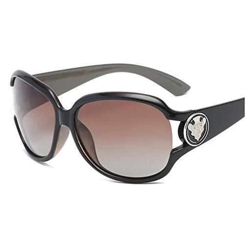 Marrón Miopía QZ Polarizada Luz UV Marrón Protección Grande Gafas Color Caja De HOME Conducción De De Sol Moda Espejo rq4RUq