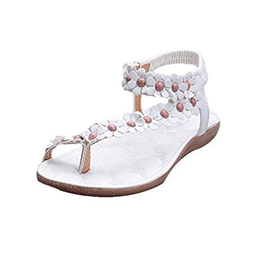 Start Summer Sandals Clip White Bohemia Toe Her Women Beachshoes g6qRrxgw
