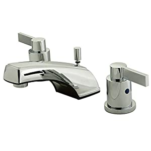 Kingston Brass Kb8921ndl 4 1 2 Spout Reach Nuvofusion Widespread Lavatory Faucet With Brass