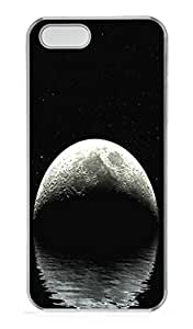 iPhone 5S Case,Rising Moon PC Hard Plastic Case for iPhone 5/5S Transparent