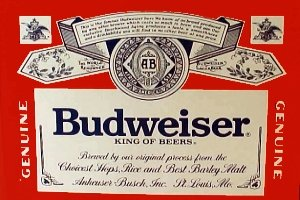 amazon com budweiser classic flag 3 x 5 beer banner outdoor