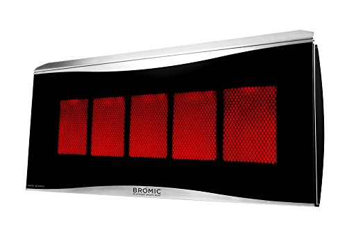 0003-1 Smart-Heat Platinum 500 Radiant Infrared Patio Heater, Natural Gas, 39800 BTU ()