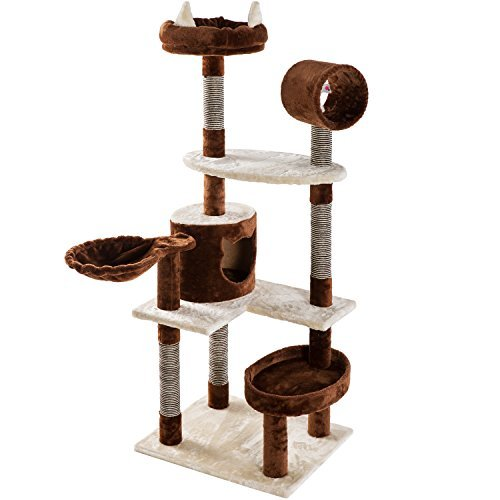 Merax Cat Tree Cat Tower Activity Trees Scratcher Play House Condo Furniture (NO.3)