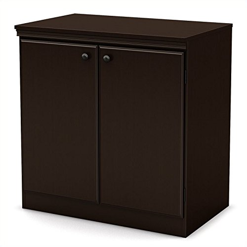 - South Shore Small 2-Door Storage Cabinet with Adjustable Shelf, Chocolate