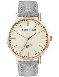 Economicxi Quartz Watch Sleek Minimalist Belt Watch Without Digital Female Quartz Watch(FG)