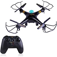 GPTOYS F2 RC Quadcopter Black Aviax Quadcopter Kit 6-Axis 2.4GHz Remote Control Quadcopter Headless Mode