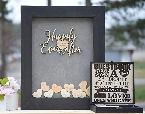 Guest Book Wood Frame - Alternative Guest Book - Wedding Drop Box - Wooden Guest Book - Guestbook Ideas - Heart Drop Guest Book - Drop Box