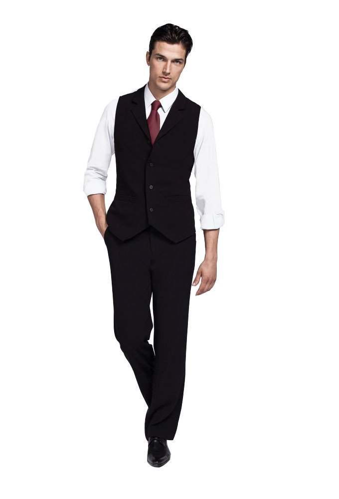 Bistro Male Vest W/ Patch Pockets - Service Uniform by Noel Asmar