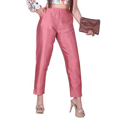 Black Lady Women's Slim Fit Poly Cotton Trouser Pant/Formal and Casual Pant/Multi Color/2 pockets/L-5XL