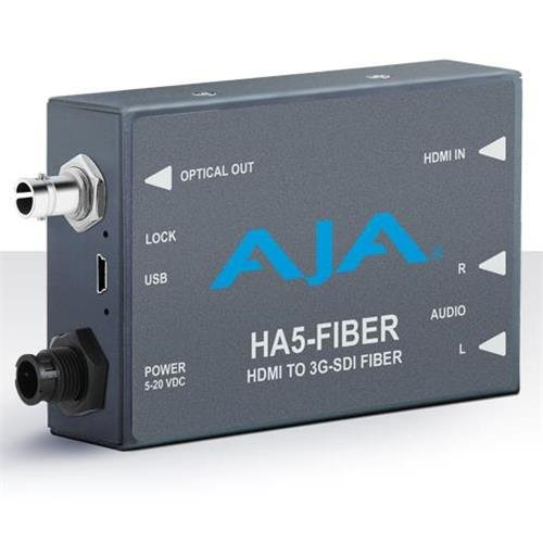 AJA HA5-Fiber HDMI to 3G-SDI over Fiber Video and Audio (Sdi Over Fiber)