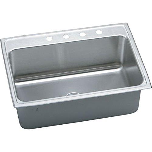 Elkao|#Elkay DLR3122101 18 Gauge Stainless Steel 31 Inch x 22 Inch x 10.125 Inch single Bowl Top Mount Kitchen Sink 1Hole, ()