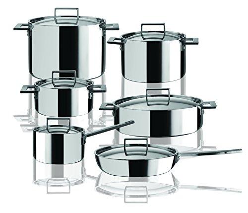 Mepra 30180012 12 Piece Attiva Kitchen Set, Stainless Steel