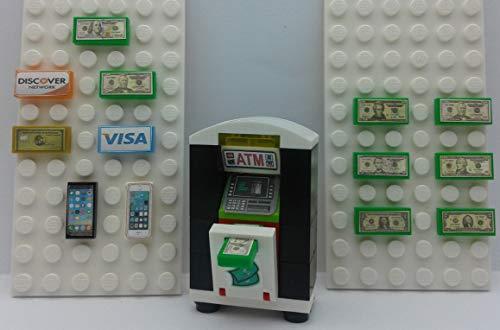 - Lego City Custom ATM Machine - Bank Money Cash Bills. Credit Cards. Smart Phone