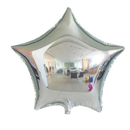 New 10PCS Five-pointed Star Helium Foil Balloon Holidays Party Supply Home Decor Silver