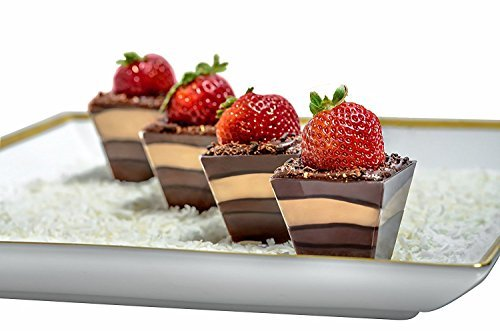 Mini Plastic Dessert Cups With Lids And Spoons | Pack Of 30 2 Oz Clear Tasting Bowls | By Mr.Foodie