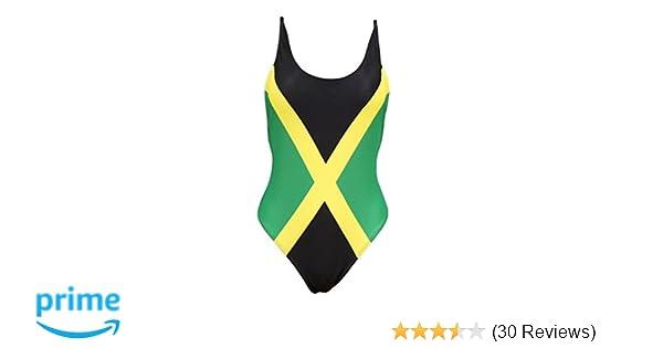 148f99e9dde Women's Fashion One Piece Thong Bathing Suit Caribbean Jamaica Flag  Monokini Swimsuit Swimwear at Amazon Women's Clothing store: