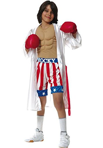 Brandsonsale Child's CA-011095 Rocky Movie Costume (Size:Large 12-14) (Fancy Dress Boxing Gloves)