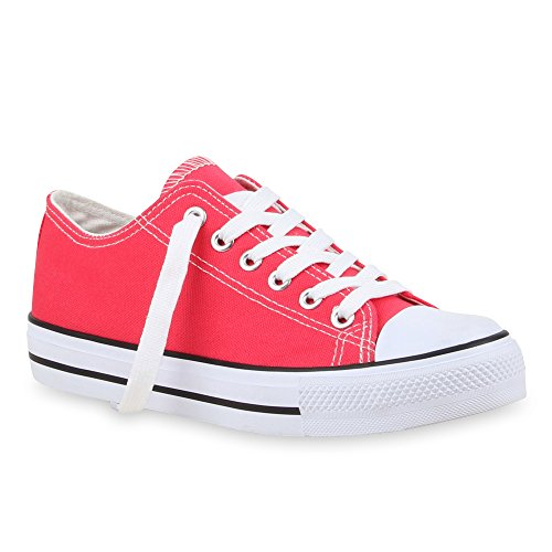 Damen Sneaker Unisex Stiefelparadies Übergrößen Coral Low Flandell Herren v1zpqc5pw
