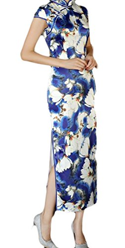 Floral Coolred Chinese 1 Stand China Women Wedding Out Style Cut Dress Collar YtrtRq