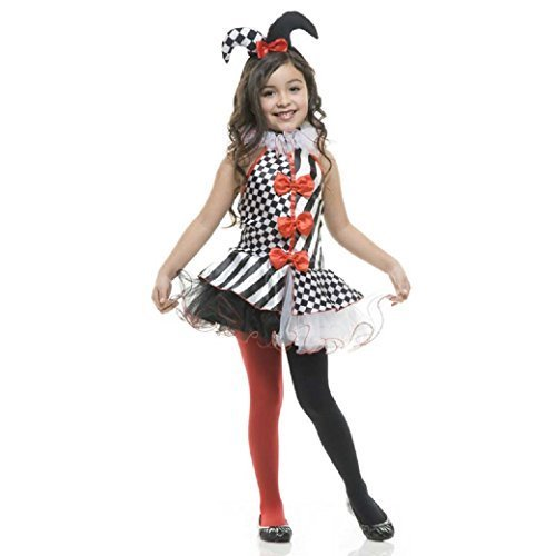 Charades Black & White Jester Children's Costume, Large