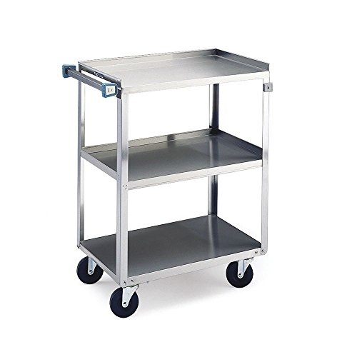 Lakeside 444 Heavy Duty Utility Cart, 3 Shelves, Stainless Steel, 500 lb. Capacity, 22-3/8
