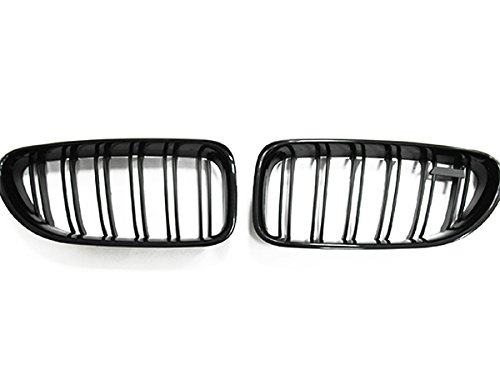 Gloss Black Front Grill Kidney Grille For 2012-2017 BMW F06 F12 F13 640i 650i M6 ()