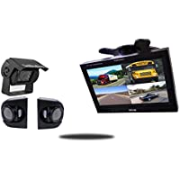Tadibrothers 7 Inch Ultimate CCD RV Trailer Backup Camera System with Premium Side Cameras
