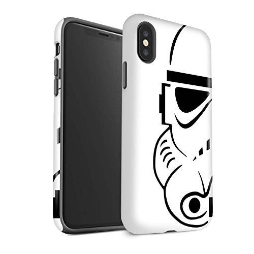 STUFF4 Matte Tough Shock Proof Phone Case for Apple iPhone X/10 / Stormtrooper Design/Assault Trooper Helmet Collection