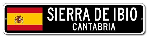 Spain Flag Sign   Sierra De Ibio  Cantabria   Spanish Custom Flag Sign   9 X36  Inches