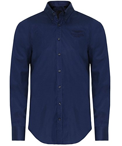 Hackett Men's Slim Fit AMR Shirt Blue L