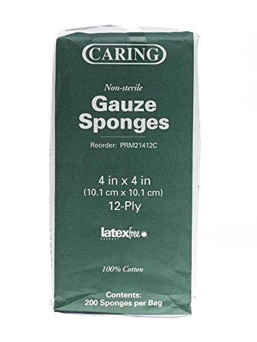 UPC 741360024632, PRM21408C - Caring Woven Non-Sterile Gauze Sponges