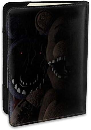 Five Nights At Freddy's'5 夜でフレディ パスポートケース パスポートカバー メンズ レディース パスポートバッグ ポーチ 収納カバー PUレザー 多機能収納ポケット 収納抜群 携帯便利 海外旅行 出張 クレジットカード 大容量