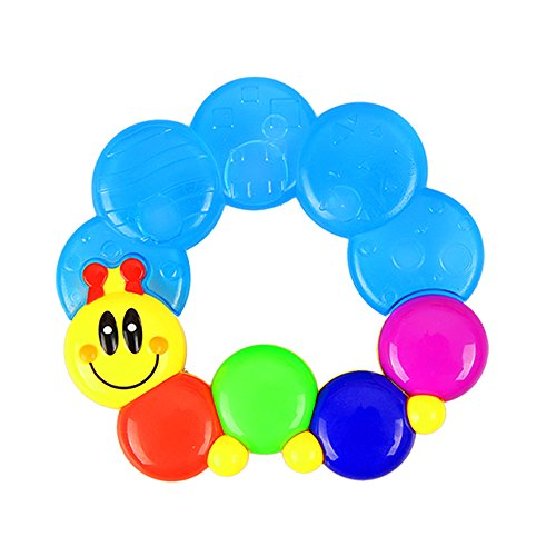 Litzpy Best Sterilized Water-Filled Caterpillar Baby Teether Teething Rattle