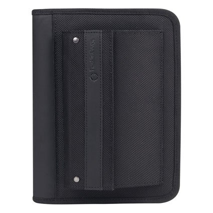 Compact Friday Nylon Zipper Binder - Black