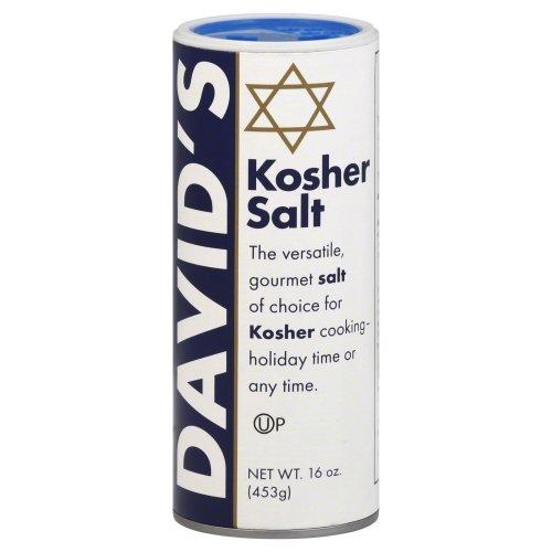 David's Kosher Salt Canister 16.0 Oz(Pack of 2) (Salt Kosher)