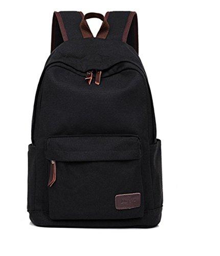 Hombres de lona bandolera lona casual computadora mochilas , coffee color Black