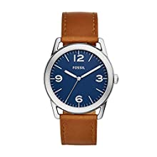 Fossil Men's 'Ledger' Quartz Stainless Steel and Leather Watch, Color:Brown (Model: BQ2304)