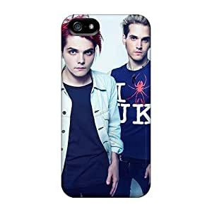 Protective Hard Cell-phone Cases For Iphone 5/5s (TQO16439KemW) Provide Private Custom Fashion My Chemical Romance Band Pattern