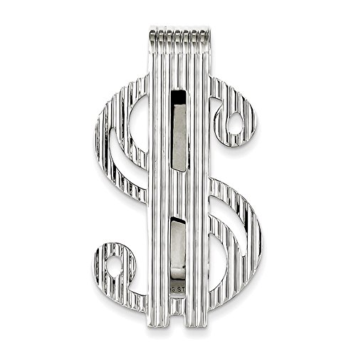 Lex & Lu Sterling Silver Dollar Sign Money Clip -