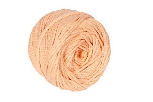 Macrame Cord Light Peach 4mm X 110m(About 120 yd) Natural Virgin Cotton Handmade Decorations Macrame Wall Hangings Plant Hanger Crocheting Bohemia Dream Catcher DIY Craft Knitting - Soft Light Peach - Mm 4 Peach